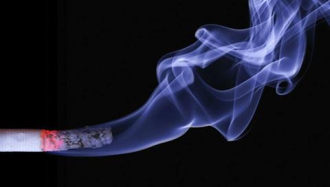 Cigareta, kouř